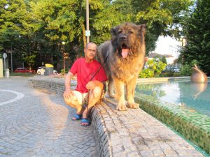 Titan Caucasian Shepherd Champion with his owner